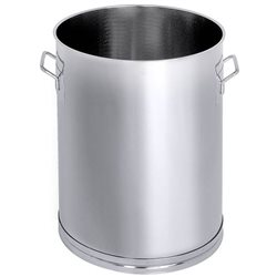 Stainless steel single walled vessels with outlet and ballvalve