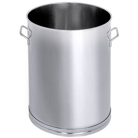 Stainless steel single walled mixing vessels