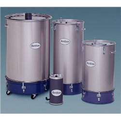 Fluidised powder hoppers