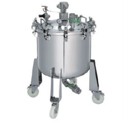 80 l Pressure feed container, made of SS with pneumatic agitator