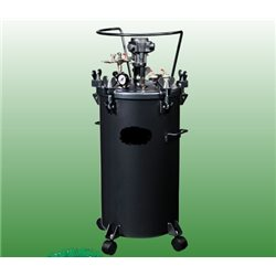80 l Pressure feed container, with SS inner tank and pneumatic agitator