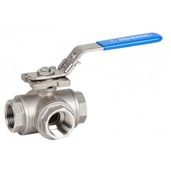 Stainless steel 3 ways ball valve