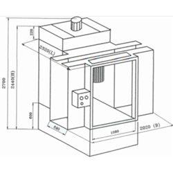 Conveyorized manual powder spray-booth, Type Micromax 2