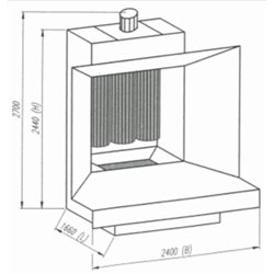 Open face manual powder spray-booth, Type Micromax 5