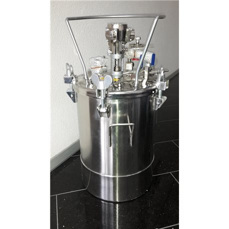 40 l Pressure feed container, made of SS with pneumatic agitator