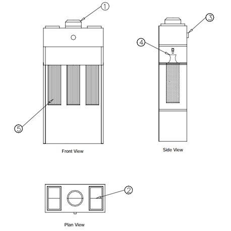 Free-standing filter module, Type Micromax 6