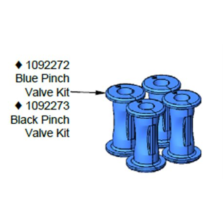 KIT,PINCH VALVE,BLU,HDLV HI-CAP,4-PACK