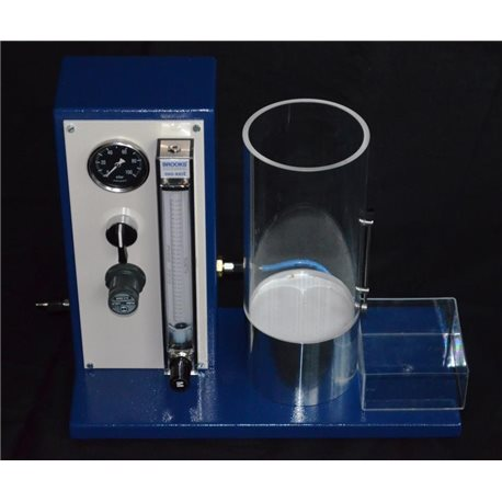 Fluidity meter for measuring fluidity of powder paint & powder enamel