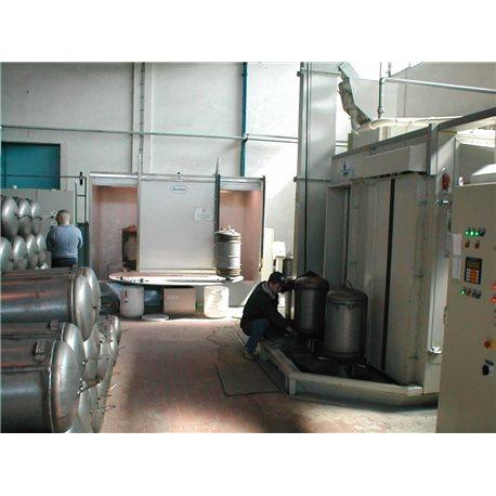 Offline powder enamel system for water heaters & solar boilers