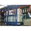 Online powder enamel system for water heaters & solar boilers