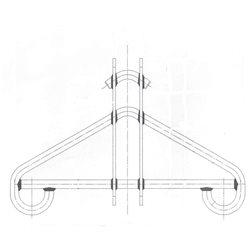 Triangular firing tool for large boilers / hot water tanks